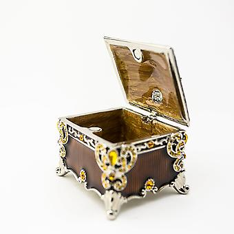 Brown Decorated - Trinket Box