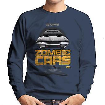 Nopea ja raivoisa aktivoida Zombie Cars Men's collegepaita