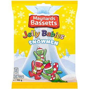 Maynards Bassetts Jelly Babies Snowmen Sweet Treat 3 Pachete de 165g