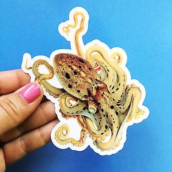 Antiikki mustekala vinyyli tarra