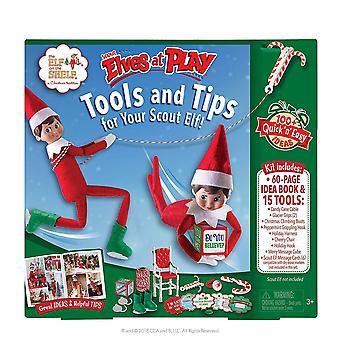 Elf na półce zwiadowca elfy w zestawie do zabawy i ustawić | elf na półce akcesoria świąteczne, pomysły