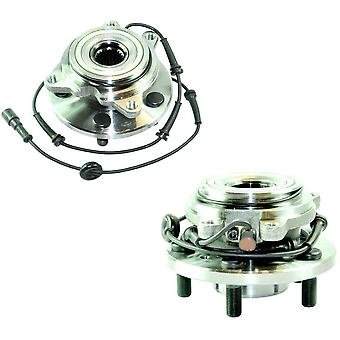 2x WHEEL BEARING HUB WITH ABS SENSOR FRONT FOR LAND ROVER DISCOVERY 2 TAY100060