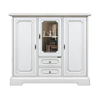 White high dresser with cabinet