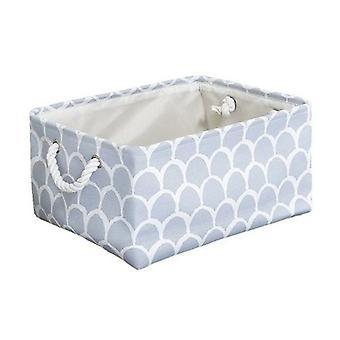 Boîte de rangement pliante de tissu de toile de cube avec la poignée