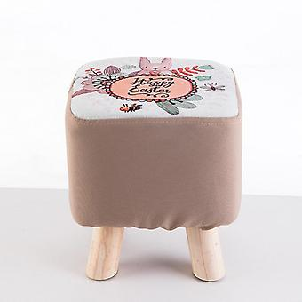 Fabric Sofa Stool,'s Small Round Stool/home Creative Bench & Solid Wood Small
