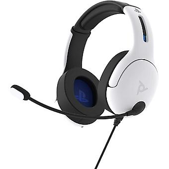 PDP LVL50 Wired Stereo Headset White PS5 PS4