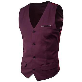 بدلة سترة صدرية الرجال، سليم فيت الخامس الرقبة اللباس سترات، رجال الأعمال الرسمية