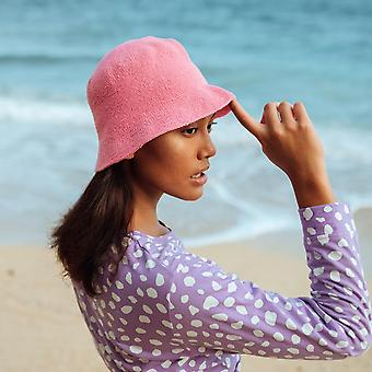 Chapéu de balde de crochê florette, em rosa