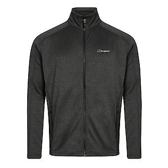 Berghaus Spitzer Mens Interactive Full Zip Hooded Fleece Jacket Coat Grey