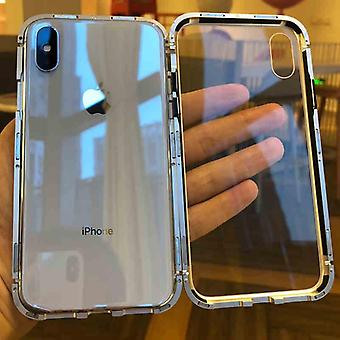 Magnet två i ett glas Iphone-fodral