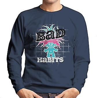 Trolls Bad Habits Pink And Blue Gradient Hair Men's Sweatshirt