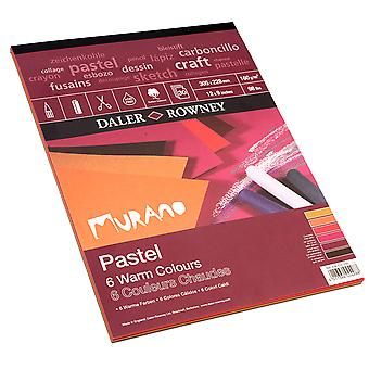 Daler Rowney Murano Pad Warm Colours 160gsm