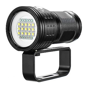 15x 5050 L2 Underwater 100-200m Diving Flashlight Underwater Video Photography Shooting LED Fill Lig