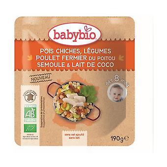 Chickpeas Vegetables Poitou farm chicken Semolina Coconut milk 190 g