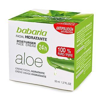 24-timmars fuktgivande ansiktskräm Aloe Vera 50 ml grädde
