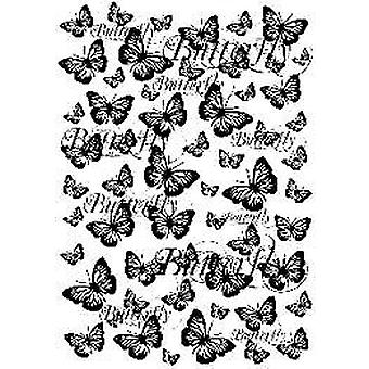 Sentimentally Yours Butterflies in Flight A6 Rubber Stamp