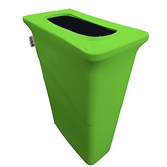 La Linen Stretch Spandex Trash Can Cover For Slim Jim 23-Gallon, Lime