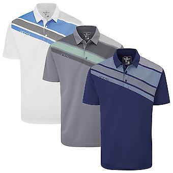 Stuburt Golf Mens 2021 Holt Breathable Moisture Wicking Summer Golf Polo Shirt