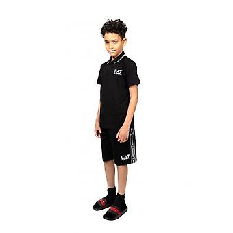 EA7 Kids Black Bermuda Short