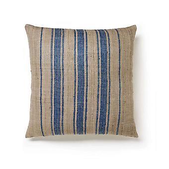 Tranquilidad a rayas mano tejida algodón cremallera contemporánea 18x18 colchón de almohada