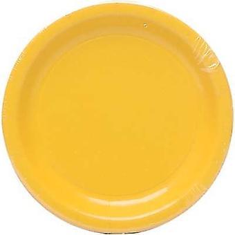 Plt7 12/8Ct Schoolbus Yellow Plates