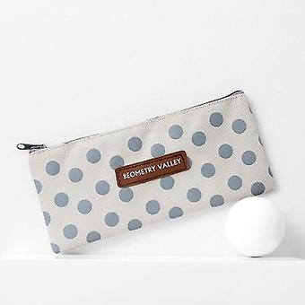 Canvas Pencil Case Stationery Student Storage Kawaii Bag