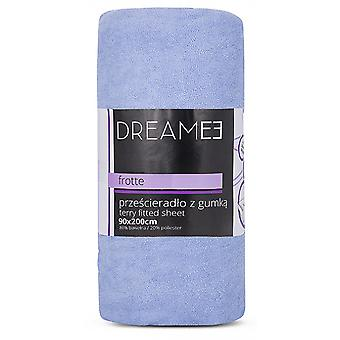 spanbed sheets Terry 90 x 200 cm cotton blue