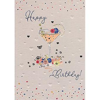 ICG Ltd Pretty In Peach Birthday Card - Cocktail
