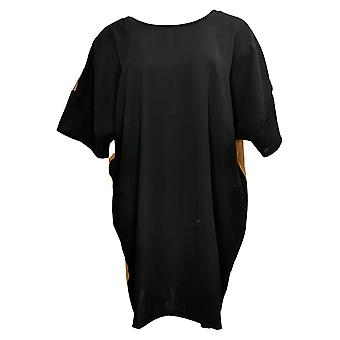 Lisa Rinna Collection Women's Top Tunic Pullover Black A367990