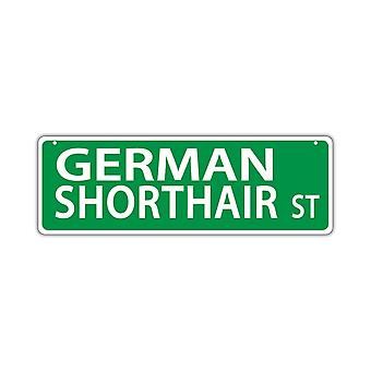 "Street Sign, Plastic, German Shorthair Street, 17"" X 6"""
