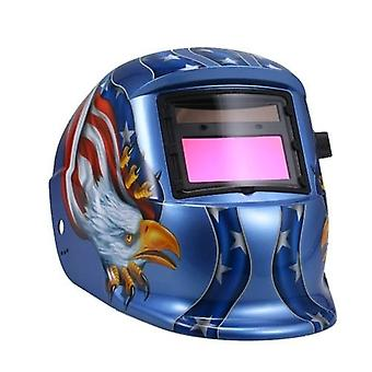 Solar Automatyczna ciemnienie Kask Maska spawalnicza Automatyczna tarcza spawalnicza MIG TIG ARC Spoina ochronna z obiektywem regulowany He-adband