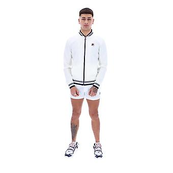 FILA Settanta Baseball Track Jacket - White/Peacoat