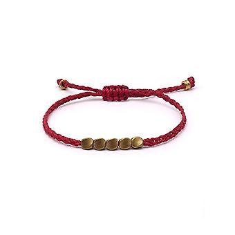 BENAVA Tibet - Tibetan lucky bracelet with red copper pendant, Buddhist jewel