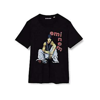 JACK & JONES JCOEMINEM Vintage T-Shirt SS Crew Hals PS T-Shirt, Schwarz, XXXL Herren