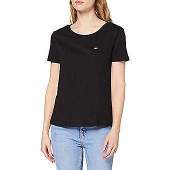 Tommy Jeans Soft Jersey Tee Knitwear Sports, Black (Tommy Black), XXS Woman