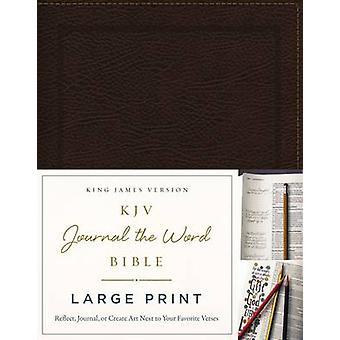 KJV Journal the Word Bible Large Print Bonded Leather Brown Red Letter by Thomas Nelson