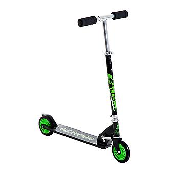 HOMCOM Aluminium Kids Kick Scooter Light Weight Folding Commuter for Teens Children from 7-14 Years Old with Adjustable Handle - Green