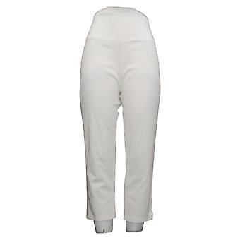 Kvinder med kontrol Regelmæssig Mave Control Crop Jeans White Medium