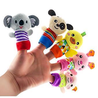 A # 5kpl vanhempien ja lasten sorminukkeja, vauvan lohduttut pehmolelut az15457