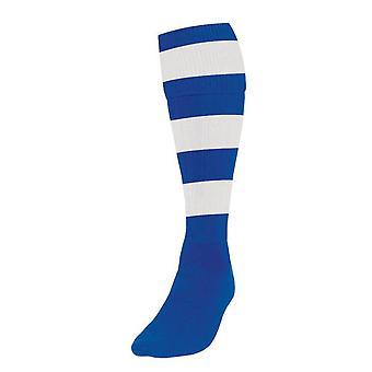 Präzision Hooped Fußball Socken Jungen Royal/Weiß