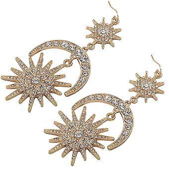 Earrings Sun Moon Earrings Metal Alloy Jewelry For Ceremony