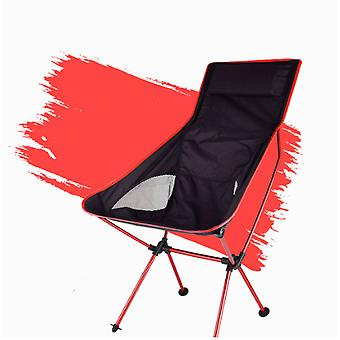 Outdoor Portable Folding Chair 150kg Maximum Load Ultralight Travel Fishing Camping Chair Picnic Home Seat Moon Backrest
