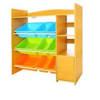 Niños Gabinete Muebles De Plástico Estantería de Madera Estantería Bebé Estantería