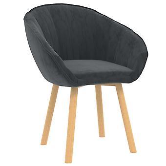 vidaXL dining chair dark grey velvet