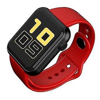 الساعات الذكية v6 سوار ذكي لون الشاشة تعقب الرياضة (أحمر)