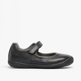 GEOX Jr Gioia 2fit Girls Dual Fit Ballerina School Shoes Black