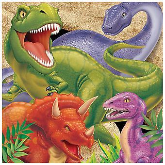 Dinosaurus-aitat - 16 kpl pakkaus - Lasten juhlatarvikkeet