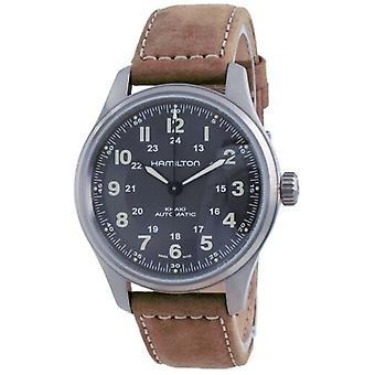 Hamilton Khaki Field Automatic Titanium Black Dial H70545550 100m Men's Watch