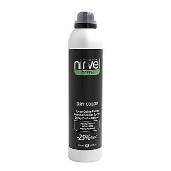 Grå hår spray grön torr färg Nirvel Svart (300 ml)