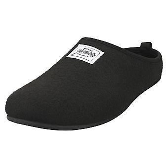 Mercredy Sliper Black Mens Slippers Shoes in Black